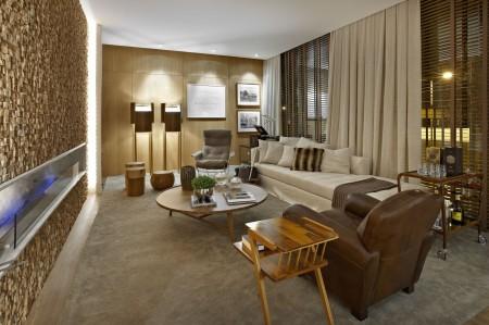 Ambiente Sala da Lareira por Manuela Senna
